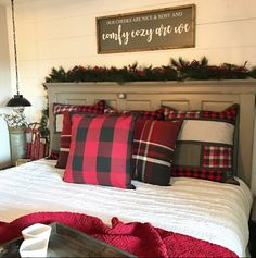You Would Have Never Seen These 20 Magical Christmas Bedroom Decor Ideas Christmas Bedding, Plaid Christmas, Christmas Home, Magical Christmas, Christmas Carol, Christmas 2019, Christmas Cactus, Christmas Lyrics, Christmas Fonts