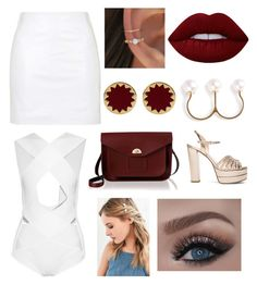 """""""Semiformal party outfit"""" by carolinagonzalez-v on Polyvore featuring moda, Valentino, Topshop, Balmain, Lime Crime, The Cambridge Satchel Company, Urban Outfitters, House of Harlow 1960 y Delfina Delettrez"""