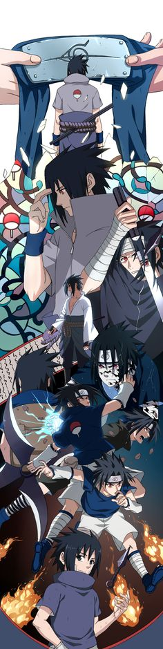 Sasuke Generations Him touching his forehead like Itachi *used* to.. And the top one.. So sad/cool!