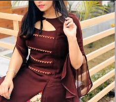 Latest kurti neck designs& sleeves design - The handmade craft Simple Kurta Designs, Silk Kurti Designs, Churidar Designs, Kurta Designs Women, Kurti Designs Party Wear, Latest Dress Design, Stylish Blouse Design, Stylish Dress Designs, Stylish Kurtis Design
