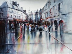 Sarlat apres la pluie - Watercolor painting by nicolasjolly.deviantart.com on @deviantART
