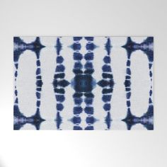 Boho Tie-Dye Knit Vertical Welcome Mat by ninamay | Society6