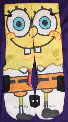 SpongeBob Custom Nike Elite Socks by LuxuryElites on Etsy, $35.99