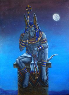 Anubis by NairasIllustrations on DeviantArt