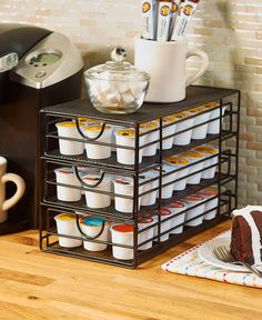 Red,Black,Bronze Large Kitchen Countertop Coffee or Tea Pod Storage Drawer Organizer Coffee Pod Storage, Coffee Pod Holder, Coffee Pods, Keurig Storage, Kitchen Organization, Kitchen Storage, Fixer Upper, Apartment Therapy, Kitchen Dining