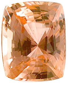 Genuine Padparadscha Sapphire Loose Gemstone, Peachy Pink, Cushion Cut, 8.04 x 6.29mm, 2.18 Carats at BitCoin Gems