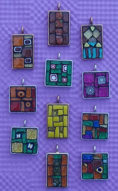 more & more pendants... by Gila Mosaics nstuff, via Flickr
