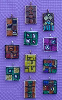 more & more pendants... by Gila Mosaics nstuff, via Flickr