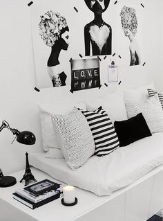 10 Perfectly Black and White Room Design Ideas - The Living Blue Decoration Inspiration, Room Inspiration, Design Inspiration, Design Ideas, Decor Ideas, Interior Inspiration, Design Projects, Room Decor For Teen Girls, Home Interior