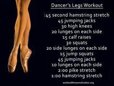 Dancer's legs workout