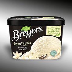 Natural Vanilla Ice Cream | Breyers® No corn syrup!!!  The Best Vanilla ice cream EVER!