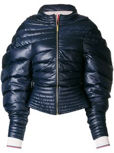 Shop Thom Browne Downfill Hooded Jacket With Center Front Zip In Ripstop Winter Olympics, Padded Jacket, Thom Browne, Hoods, Ready To Wear, Women Wear, Winter Jackets, Zip, Lady