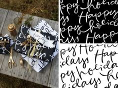 Sarasota Magazine - black & white lettering patterns