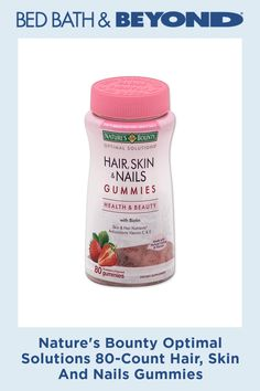 Nature's Bounty Optimal Solutions 80-Count Hair, Skin And Nails Gummies #LegHairRemoval