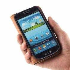 Golden Phoenix Samsung Galaxy S3 Handyhülle Royal Wallet-Case Wildleder hellbraun