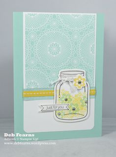 Simply Stampin Challenge - Perfectly Preserved jar stamp