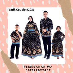 Setelan model baju gamis batik couple keluarga sarimbit terbaru warna hitam kombinasi kemeja lengan panjang batik couple 2031 Batik Couple, Couples, Model, Scale Model, Couple, Models, Template, Pattern