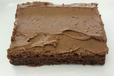 Every coffee lover's favorite. This coffee flavored brownie is topped with a mocha frosting.