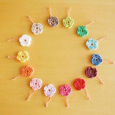 Crochet flower (free pattern).