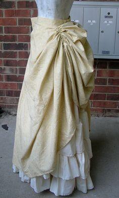 Steampunk Ruffle skirt with drawstring bustle. $325.00, via Etsy.