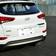 Fit For Hyundai Tucson 2016 2017 External Accessories Stainless Steel Rear Door adornment Streamer Tail Trunk Lid Cover Trim