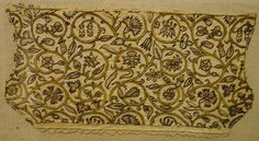 16th century silver gilt fish | Late 16th century coif at the V&A. Black silk and gold metal thread on ...
