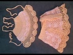 Olá pessoal, sejam todos bem vindos ao meu novo Canal É com grande alegria e satisfação que hoje trago para vcs esse video. LISTA DE MATERIAIS LINHA CLÉA AGU... Diy Crochet Top, Diy Crochet Flowers, Quick Crochet, Crochet For Kids, Crochet Baby, Baby Bikini, Bikini Modells, Crochet Mandala Pattern, Crochet Patterns