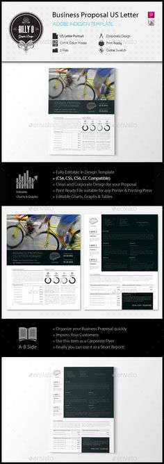 Business Proposal US Letter Template Corporate Flyer, Corporate Design, Project Proposal, Business Proposal, Graphic Design Templates, Business Organization, Proposal Templates, Letter Templates, Page Design