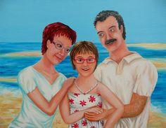 Painting «Family Portrait» by Nadine Lière, Acrylic on canvas board, 90 x 70 cm, 2014, http://grenadine-art.eu
