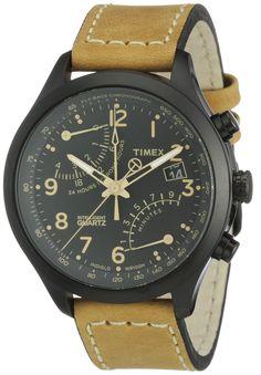 Timex Herren-Armbanduhr XL T-Series Fly-Back Chronograph Analog Leder T2N700: TIMEX: