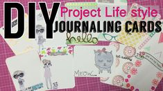 DIY Journaling Cards // project life style | I'm A Cool Mom - YouTube