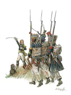 French Infantry of the line, Waterloo campaign, by Patrice Courcelle.