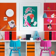 Tags: #Decoracao #Decoration #Cores #Colors #Tons #Tones #Pantones #Inspiration #Paint #Painting #Pintura #HomeDecor #House #Home #Casa #Orange #Laranja #Green #Pink #Verde #Rosa #Blue #Azul