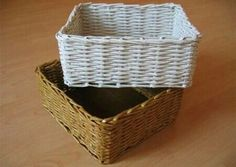 Newspaper baskets! Cheaper than buying them, and recycling newspaper in the process!