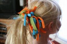 scrap fleece ponytail