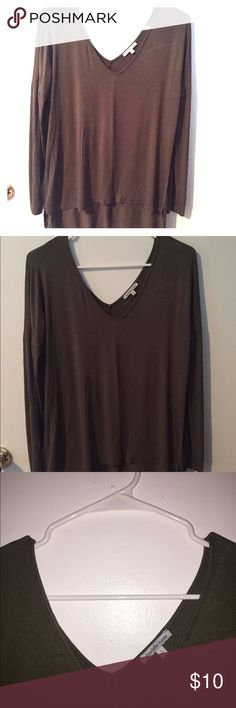 Olive Green Draped long V Neck Top V Neck long sleeve Top. Olive Green. Super comfortable and perfect for casual wear. Only worn once! Charlotte Russe Tops Tees - Long Sleeve