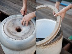 DIY 1 hour, recycled fire pit via House
