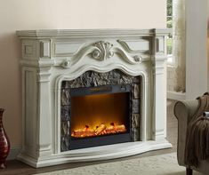62 Quot Grand Cherry Fireplace At Big Lots Big Lots