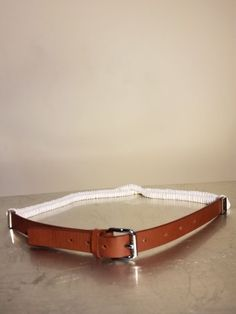 Steve Madden Imitation-Pearl Studded Pant Belt Blue PearlSilver NWT