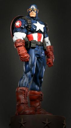 Captain America Ultimate statue  Sculpted by: Tron and Randy Bowen    Release Date: April 2010  Edition Size: 500  Order Of Release: Phase IV (statue #197)