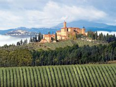 Located in Montalcino, in the gorgeous Tuscany, Italy, Castello Banfi Il Borgo is open for public and guests between the months of March and November