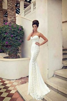 Sleek wedding dress