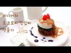 Miniature chocolate mochi polymer clay tutorial