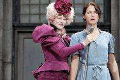 Effie and Katniss em Jogos Vorazes