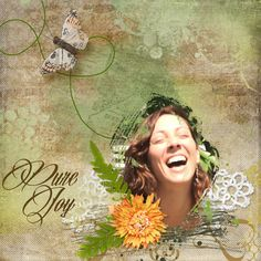 Pure Joy using Artsy Templates 12 by he{art} journaling and Just A Little Wonderful by The Urban Fairy
