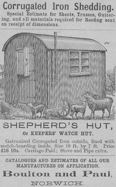 Original ad for a Shepherds Hut