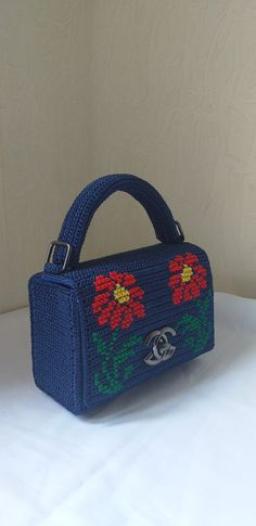 Crochet Bags, Knit Crochet, Cross Stitch Patterns, Crocheting, Shoulder Bag, Purses, Knitting, Handmade, Crochet Pouch