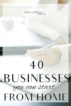 Big list of business you can start from home