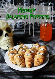 This yummy mummy appetizer is perfect for any Halloween party! Pair with your favorite cocktail (or mocktail) and you're in for a spooktacular celebration!