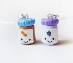 Peanut Butter and Jelly Jars Best Friends Necklace by cbexpress, $30.00